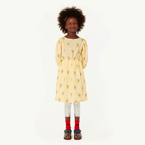 Swallow Kids Dress (Wheat Spikes) (Yellow)