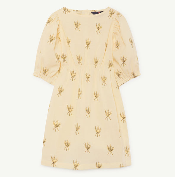 The Animals Observatory Swallow Kids Dress (Wheat Spikes) (Yellow) - TA-DA!