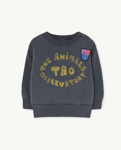 The Animals Observatory Bear Babies Sweatshirt Blue - TA-DA!