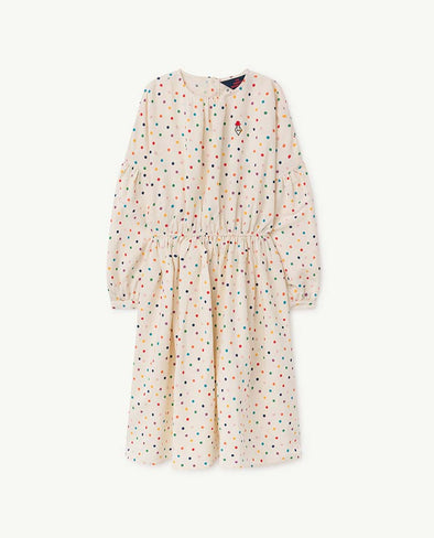 The Animals Observatory Dots Tortoise Kids Dress - TA-DA!