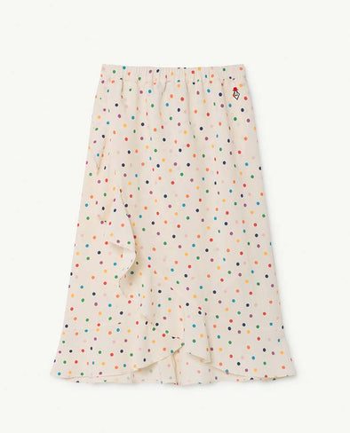 ❖Dots Manatee Kids Skirt Raw White Dots
