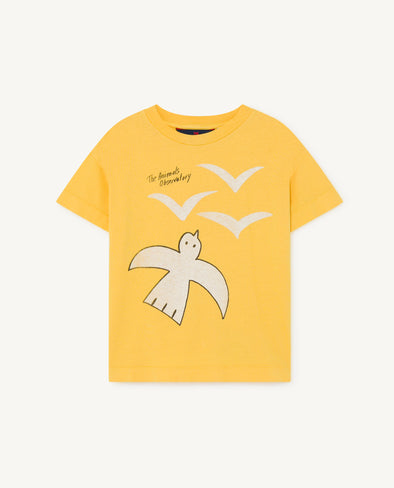 The Animals Observatory SS20 Rooster Kids T-Shirt (Yellow / Purple / Pink) - TA-DA!