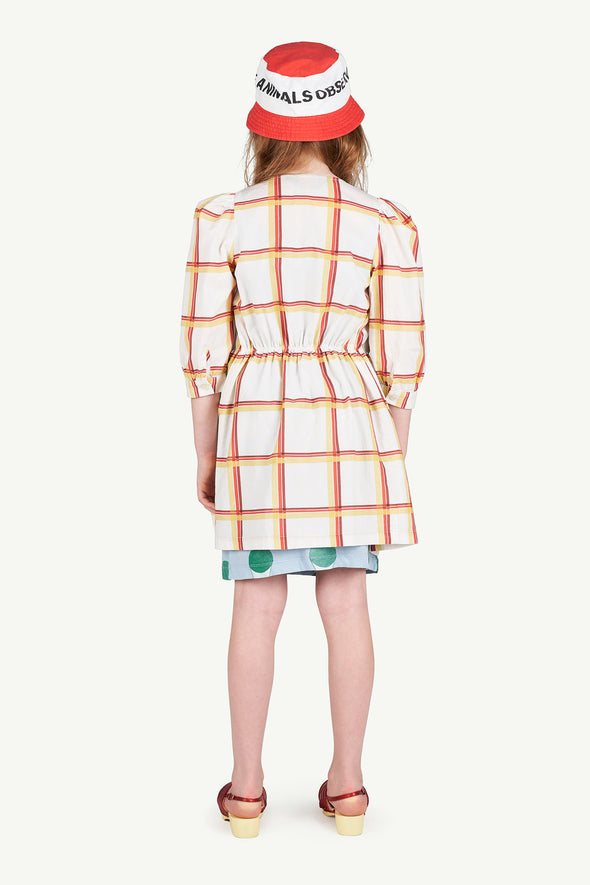 The Animals Observatory SS20 Squares Tortoise Kids Dress - TA-DA!