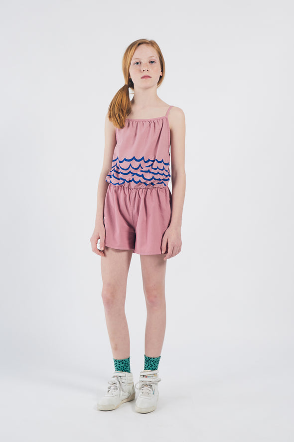 Bobo Choses SS20 Waves Woven Playsuit (Pink / Green) - TA-DA!