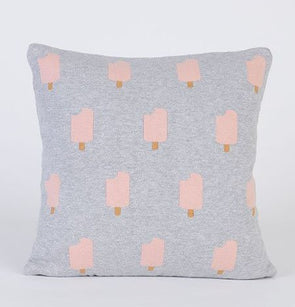 WOOUF! Ice-Cream Cushion Case (Grey+Pink) - TA-DA!