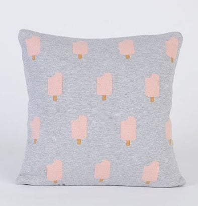 Ice-Cream Cushion Case (Grey+Pink)