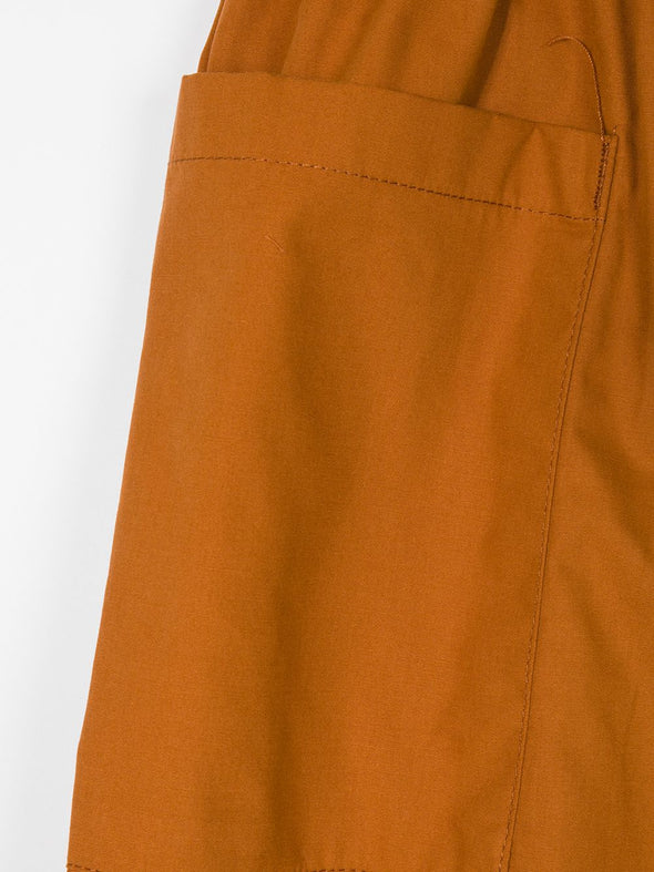 Tiny Cottons Solid cool pant (Dark Navy / Brown) - TA-DA!