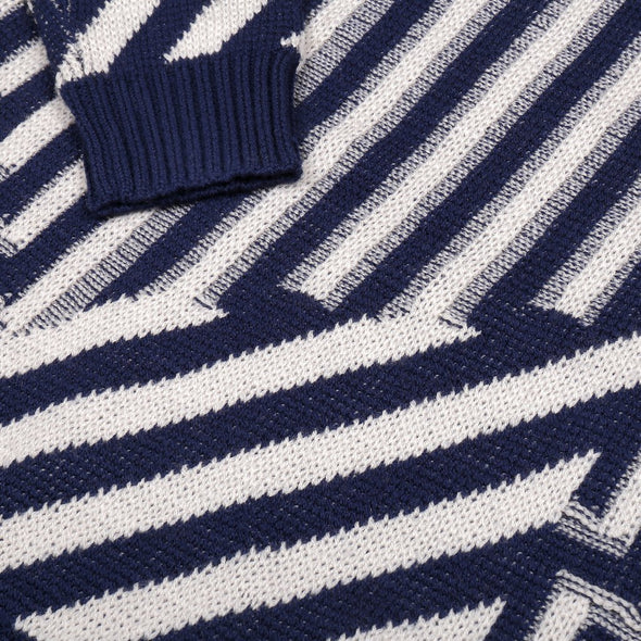 Knit Planet Journey Jumper (Cream / Navy) - TA-DA!
