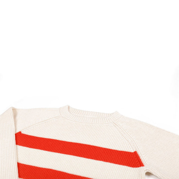 Knit Planet Stripe Jumper (Cream) - TA-DA!