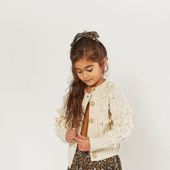 Rylee + Cru - AW2020 Bobble Cardigan (Natural)