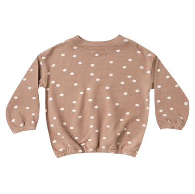 Rylee + Cru Dot Pullover Sweater (Truffle / Wheat) - TA-DA!