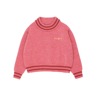 Tiny Cottons Lines Crop Sweater (Colour : Bubble Gum) - TA-DA!