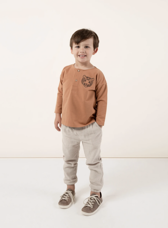 Tiger Henley Sweatshirt (Bronze)