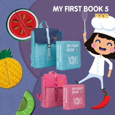 My First Book ( 5 ) - Food (Pink / Blue)
