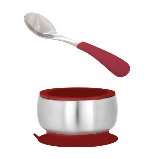 Stainless Steel Baby Bowl with Spoon Combo + Air Tight Lid (Multi Colour)