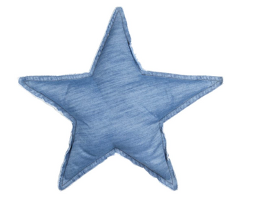 Startshaped Cushion Demin Blue