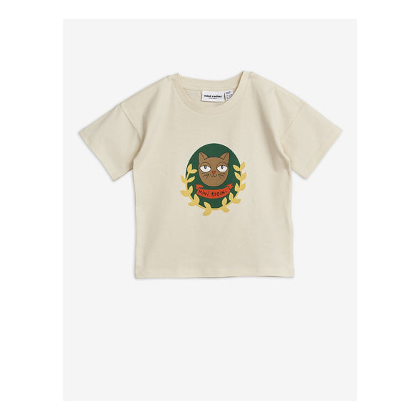 Mini Rodini SS20 Cat Badge / Panther Badge T-Shirt (Off White) - TA-DA!