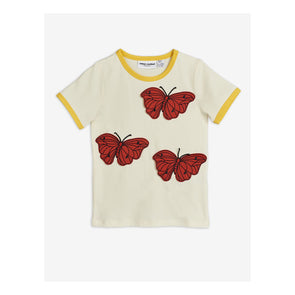 Mini Rodini SS20 Butterflies T-Shirt (Off White) - TA-DA!