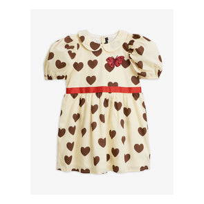 Mini Rodini SS20  Hearts Puff Dress (Off White) - TA-DA!