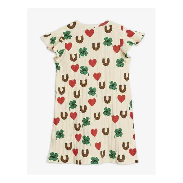 Mini Rodini SS20 Clover Dress (Beige) - TA-DA!