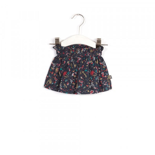 Imps & Elfs Feestje Party Print Skirt (Black) - TA-DA!