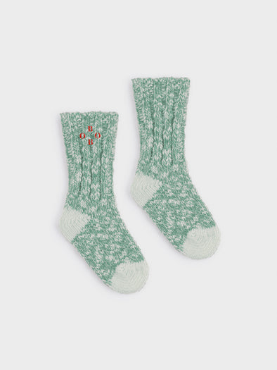 Bobo Choses Green Bobo Thick Socks - TA-DA!