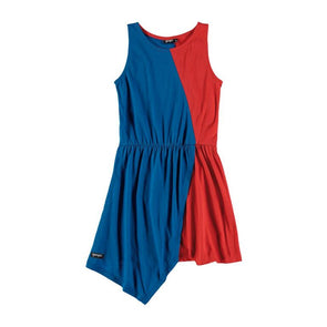 yporqué Bicolor Dress (High blue + Red) - TA-DA!