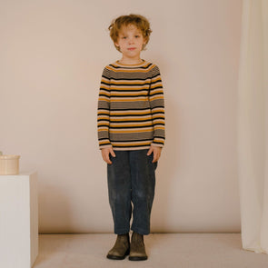 Repose AMS Knitted raglan sweater (Retro Stripe) - TA-DA!