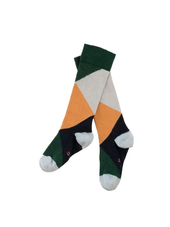 Tiny Cottons Geometric high Socks (Multi Colours) - TA-DA!