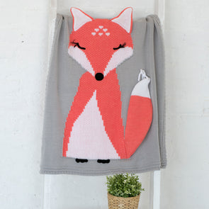 Apero Knit Fox Blanket (Grey) - TA-DA!