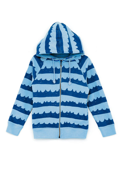 nadadelazos Sea Waves In Blue Hoodie (Light Wave Blue) - TA-DA!