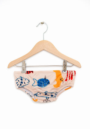 Shoal of Fish Swim Set Bottom (Light Skin Beige)