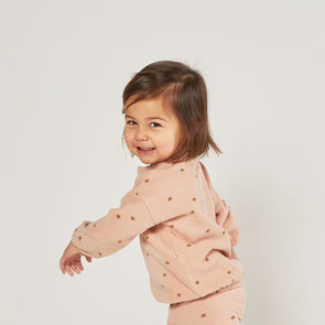 Rylee + Cru - AW2020 Star slouchy Pullover (Rose)