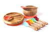 Avanchy Rainbow Baby Gift Sets (Baby Divided Plate + Bowl + 7 Spoons + Gift Packinging) - TA-DA!