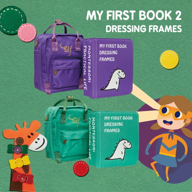 My First Book ( 2 ) -  Dressing Frame (Purple / Green)