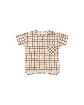 SS20 Grid Raw Edge Tee / Pant (Bronze)