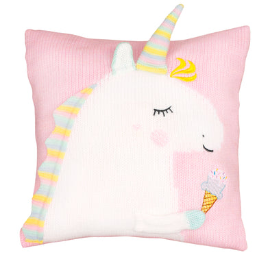 Apero Knit Unicorn Pillow (Pink / Mint) - TA-DA!