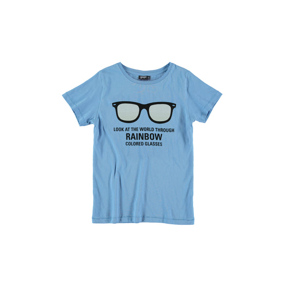 yporqué Color Change Rainbow Sunglasses Tee (Blue Cadet) - TA-DA!