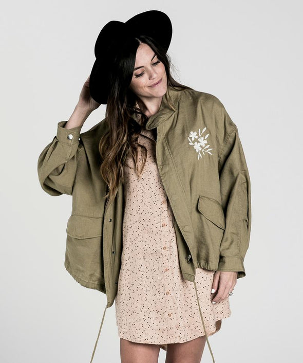 Rylee + Cru Embroidered fleur jacket (adult) - TA-DA!