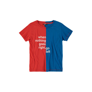 Right & Left Tee (Red + High Blue)