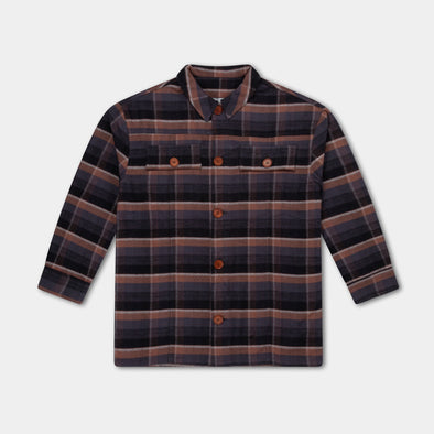 Repose AMS Shirt (Inky Brown Check) - TA-DA!