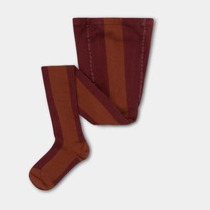 Repose AMS Tights (Rosewood Red With Hazel Stripe) - TA-DA!