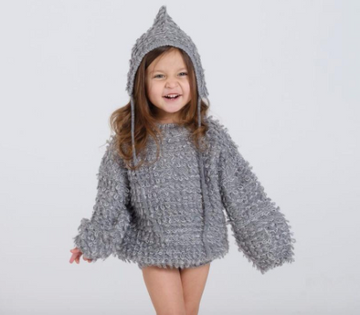 Knit Pixie Hat (Grey)