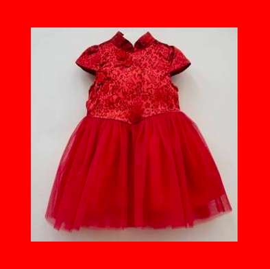 CouCou Chinese Dress (Red) - TA-DA!