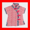 CouCou Chinese Short Sleeve Cheongsam (碎花企領中國服)(Red) - TA-DA!