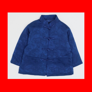 Chinese Coat (Dragon)(企領長袖唐服)(Blue)