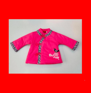 CouCou Chinese Coat (Bird Songs) (Pink) - TA-DA!