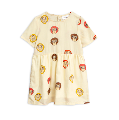 Mini Rodini Monkey Woven Dress (Off White) - TA-DA!