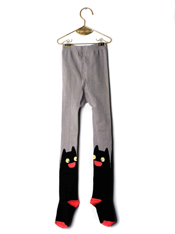 Wolf & Rita Tights Cat (Baby) (Brick / Black) - TA-DA!