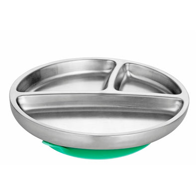 Avanchy Stainless Steel Suction Toddler Plate (Multi Colour) - TA-DA!